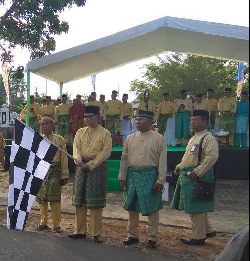 Pelepasan pawai ta'aruf oleh Sekda Kabupaten Lingga