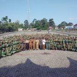 Nurdin Basirun Hadiri Apel Gelar Pasukan Satlinmas Di Lingga.