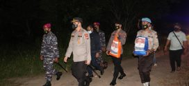 Polres Lingga Gelar Patroli Skala besar dan Salurkan Bansos